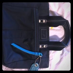 Coach purse black and teal